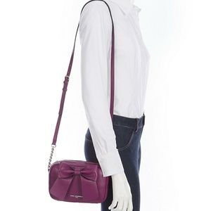 NWT Karl Lagerfeld Grape Bow Xbody Final Price